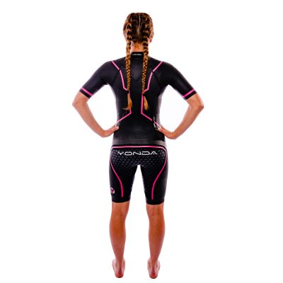 Yonda swim run wetsuit female back