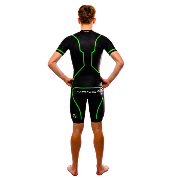 Yonda ghost swim run wetsuit male back