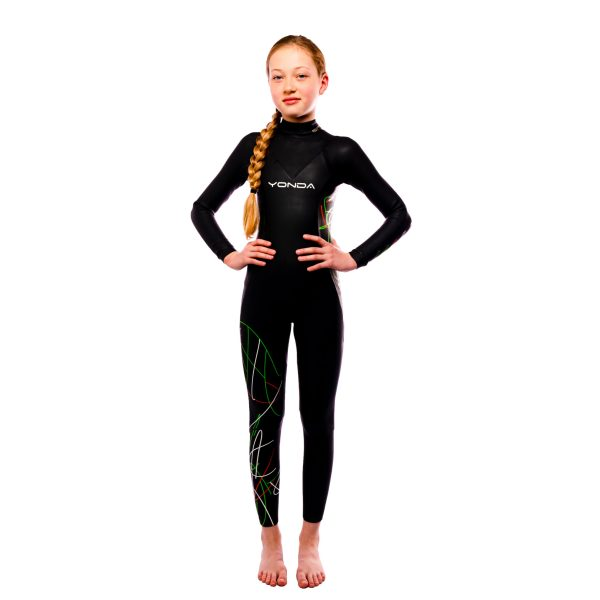 Yonda Spectre kids wetsuit front