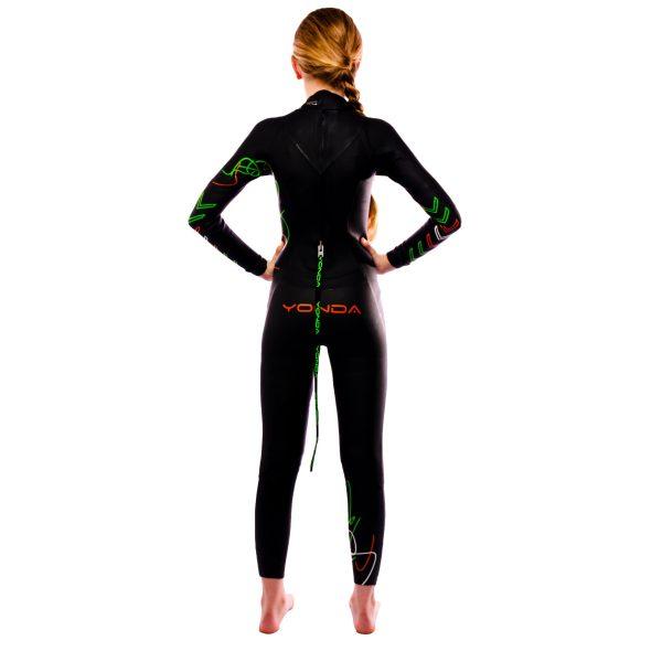 Yonda Spectre kids wetsuit back