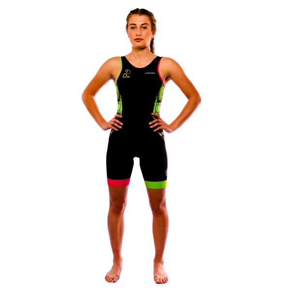 Velocita Performance Triathlon suit Womens Racer back - front