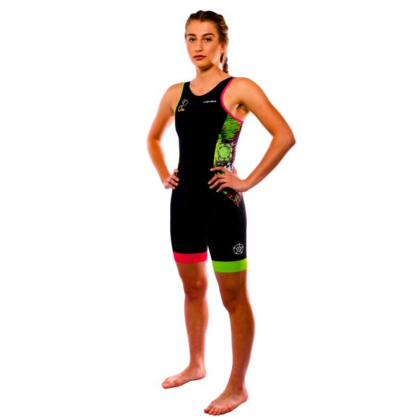 Velocita Performance Triathlon suit Womens Racer back - side