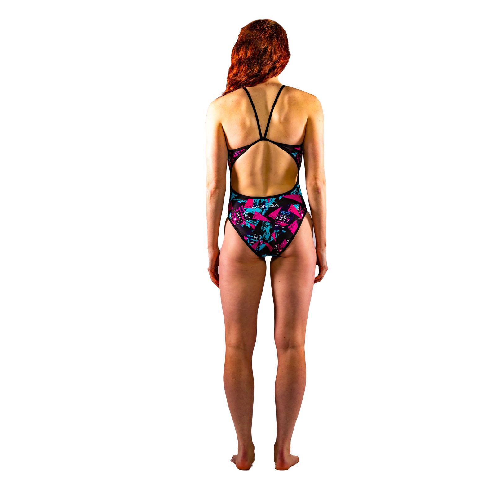 Graffiti Black Ladies Swimsuit